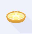 lemon crumble tart vector image vector image