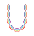 Letter U made in rainbow colors vector image vector image