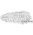 loan word cloud concept vector image vector image