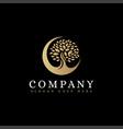 luxury minimalist moon and tree logo icon vector image vector image