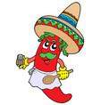 mexican chilli chef vector image