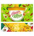 mexican sombrero maracas and cinco de mayo food vector image vector image
