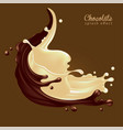 milk chocolate advertising a jet chocolate and vector image vector image