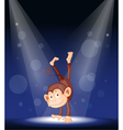 Monkey Stage Performance vector image