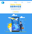 online tickets service airline registration flight vector image vector image