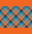 orange blue fabric texture seamless pattern vector image vector image