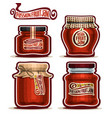 passion fruit jam in jars vector image vector image