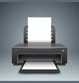 realistic 3d printer paper a4 icon vector image vector image