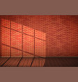 red brick wall room vector image vector image