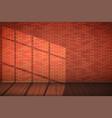 red brick wall room vector image