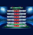 russia world cup group f vector image