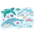sea creatures sea travel clipart color vector image