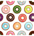 seamless pattern with tasty foods desserts vector image