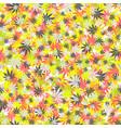 seamless texture marijuana colored vector image vector image