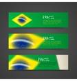 set of banners with watercolor effect in brazil vector image vector image