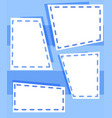 set of blue templates vector image