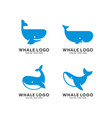 set whale species logo vector image