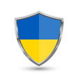 shield with flag of ukraine isolated vector image vector image