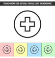 simple outline transparent cross medical icon on vector image