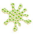 splash collage of island tropic palm icons vector image