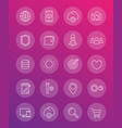thin line web icons pack vector image vector image