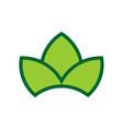three leaves green logo icon vector image