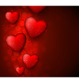 Valentines red background vector image vector image