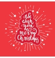 We wish you a merry Christmas - quote on patterned vector image vector image