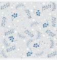 winter seamless pattern with berries on subtle vector image