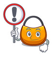 with sign female hobo bag isolated on mascot vector image vector image