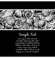 Hand drawn seamless pattern with various seashell vector image