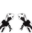 hands and shackles vector image