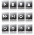 Set of buttons with symbols vector image