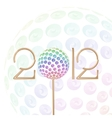 2012 celebration vector image