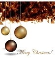 abstract christmas background with golden vector image