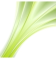 Abstract green smooth waves background vector image vector image