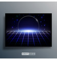 background template with retro design space vector image vector image