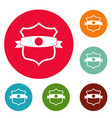badge classic icons circle set vector image vector image