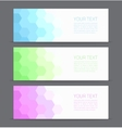 Banners set for business modern background design vector image