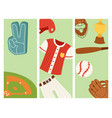 baseball sport competition game team banner vector image vector image