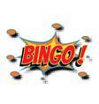 bingo comic word vector image vector image