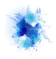 blue art splash vector image vector image