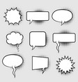 bubble speech with halftone vector image vector image