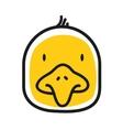 Cartoon animal head icon Chiken face avatar vector image vector image