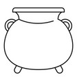 cauldron pot icon outline style vector image