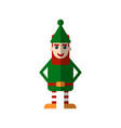 chistmas elf flat isolated on vector image vector image