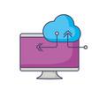cloud storage design vector image vector image