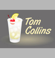 cocktail tom collins vector image