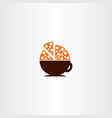 Coffee and pizza logo icon