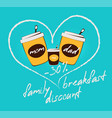 colorful flat family breakfast discount concept vector image vector image